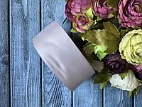Репсова стрічка 4 см, 25 ярд/рулон, сірого кольору