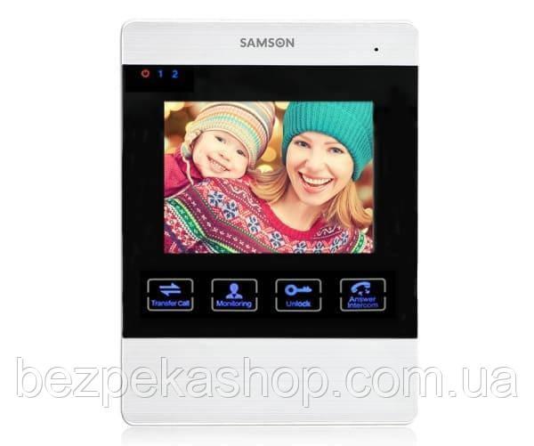 "Samson SW-406 монитор домофона 4.3"" с памятью на 80 кадров и microSD карту (серебро)"