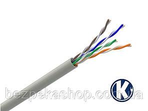 Одескабель КПВ-ВП (U/UTP Cat.5e 4Pr Indoor) кабель витая пара UTP без экрана кат.5е, 4х2х0.51 (медь)