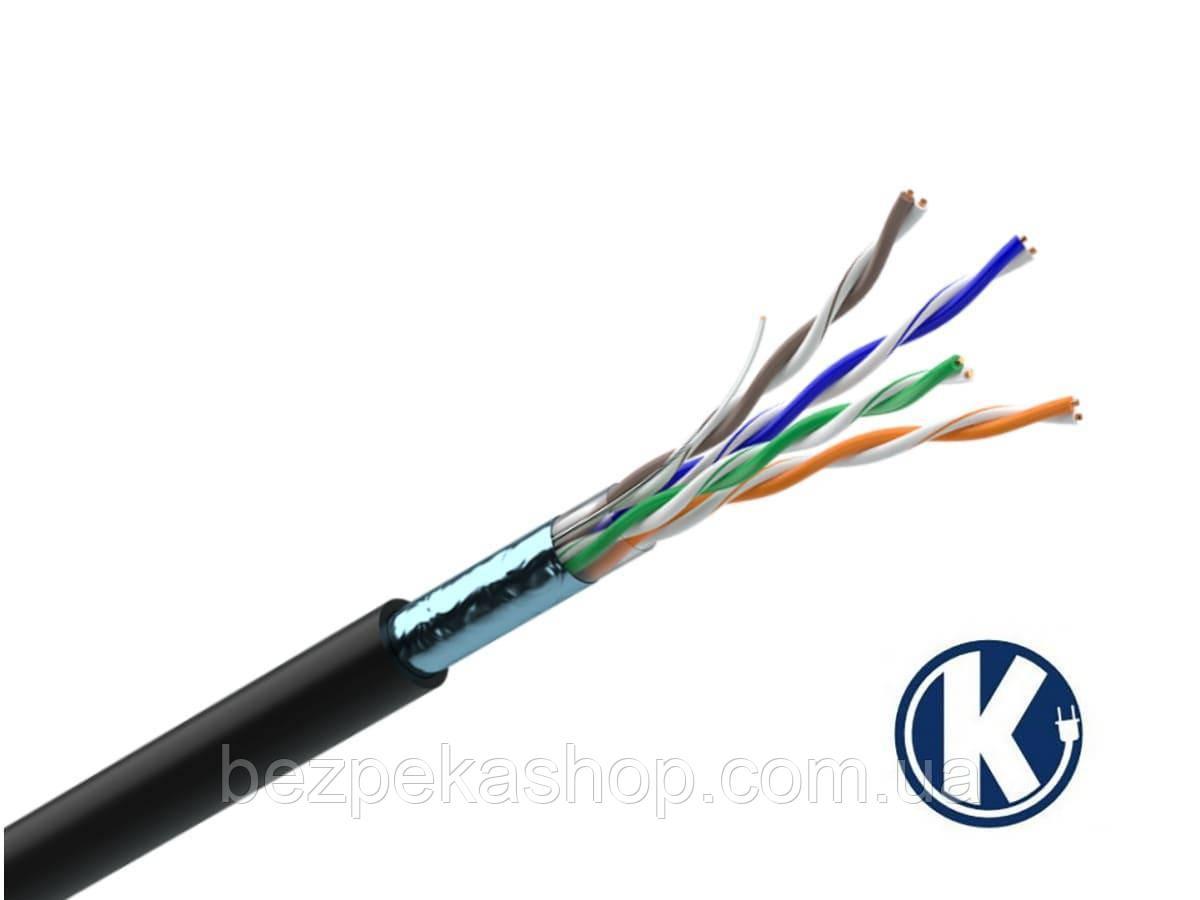 Одескабель КППЭ-ВП (F/UTP Cat.5e 4Pr Outdoor) кабель витая пара с экраном FTP кат.5е, 4х2х0.51 (медь)