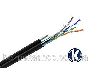 Одескабель КППЭт-ВП (F/UTP Cat.5e 4Pr Outdoor FG-8) кабель витая пара с экраном и тросом FTP кат.5е, 4х2х0.51 (медь)