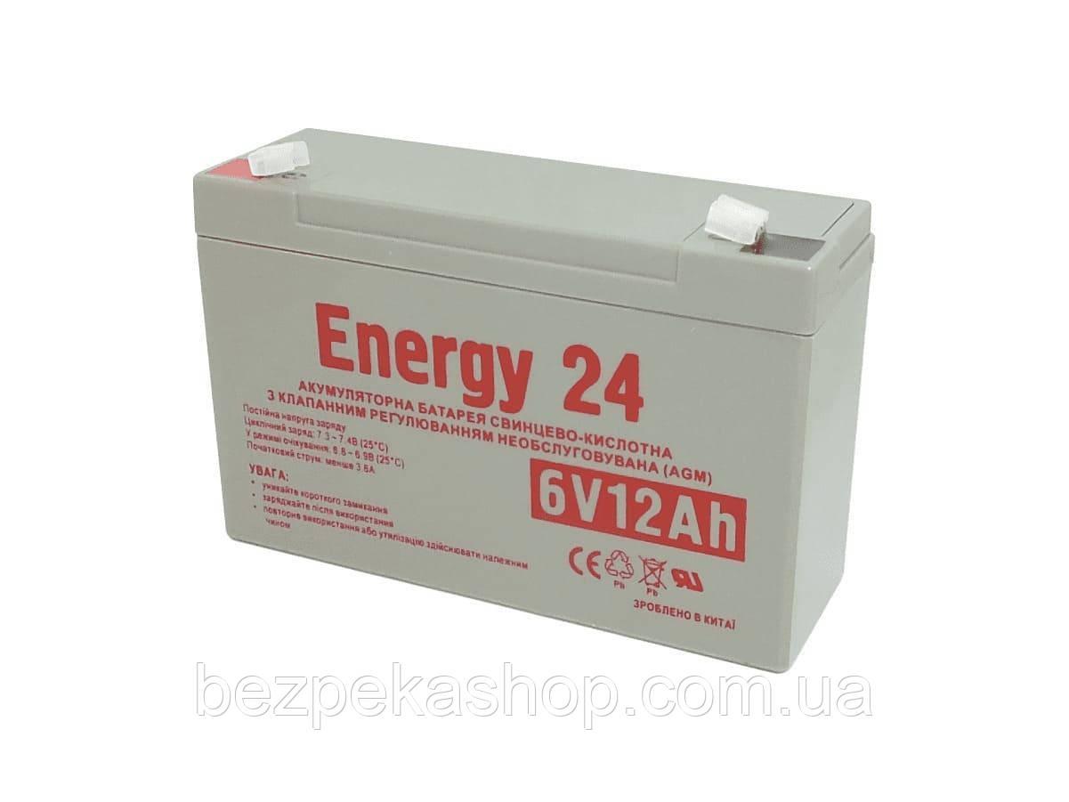 Energy24 Аккумулятор свинцово-кислотный 6V12AH