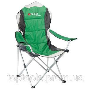 Крісло складне кемпінгове з підлокітниками і підсклянником, 60 х 60 х 110/92 см, Camping Palisad