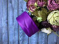 """Репсова стрічка 4 см, 25 ярд/рулон, кольору """"фіалковий фіолет"""""""