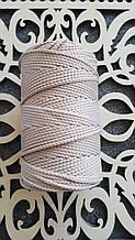Полиэфирный шнур без сердечника 3мм №5 Розовая дымка