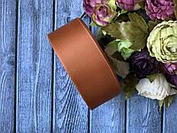 Репсова стрічка 4 см, 25 ярд/рулон, бронзового кольору
