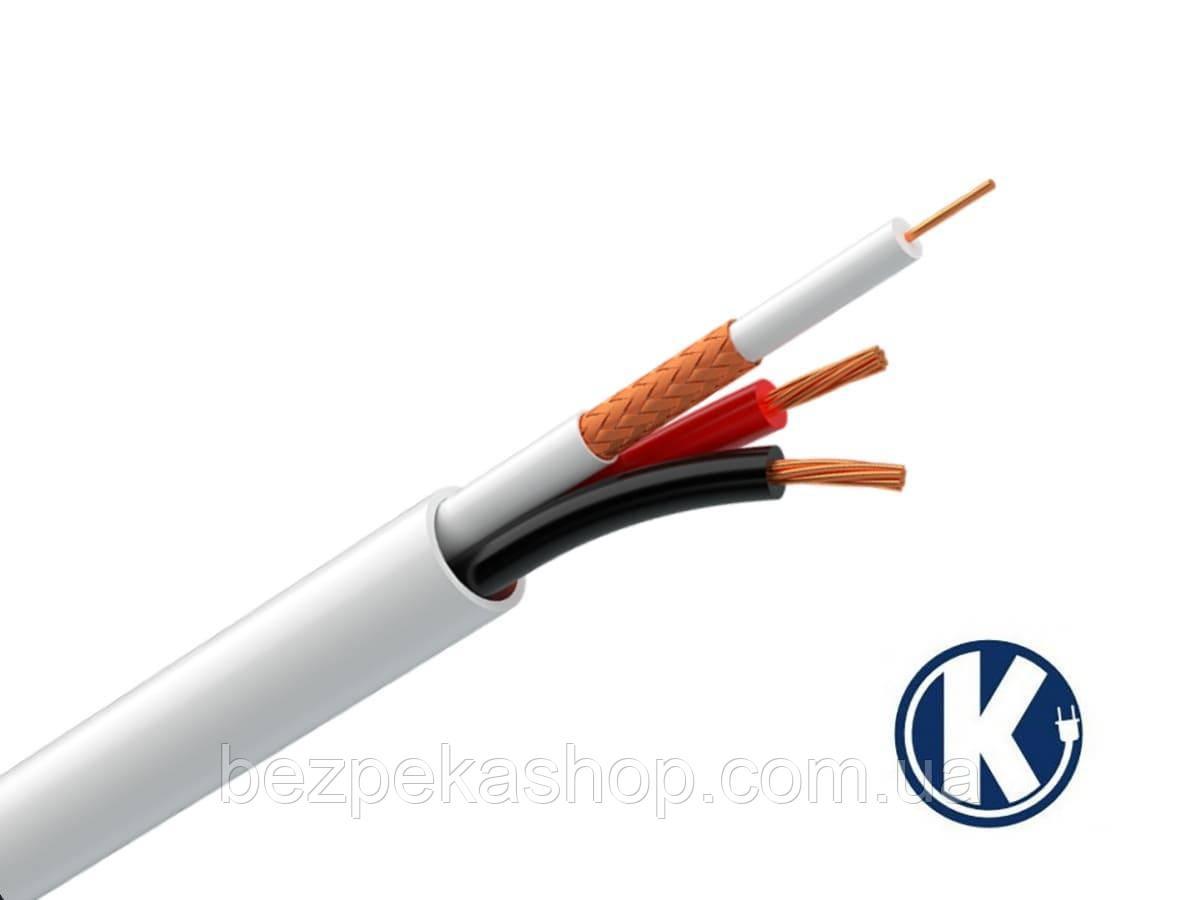 Одескабель КВК-В-2+2х0,50 комбинированный кабель (коаксиальный + силовой) внутренний