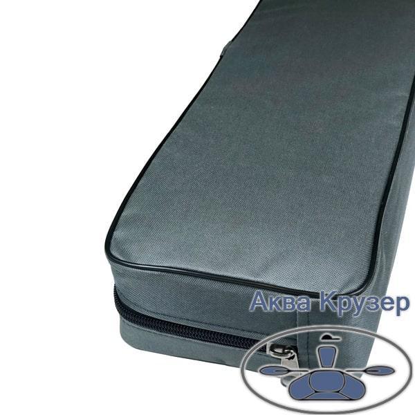 Мягкая накладка 650х200х100 мм на сиденье надувной лодки ПВХ, цвет серый