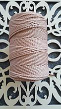 Полиэфирный шнур без сердечника 3мм №6 Бежевая пудра