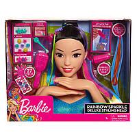 Голова-манекен для создания причесок и маникюра Барби делюкс Barbie Rainbow Sparkle Deluxe Styling Head