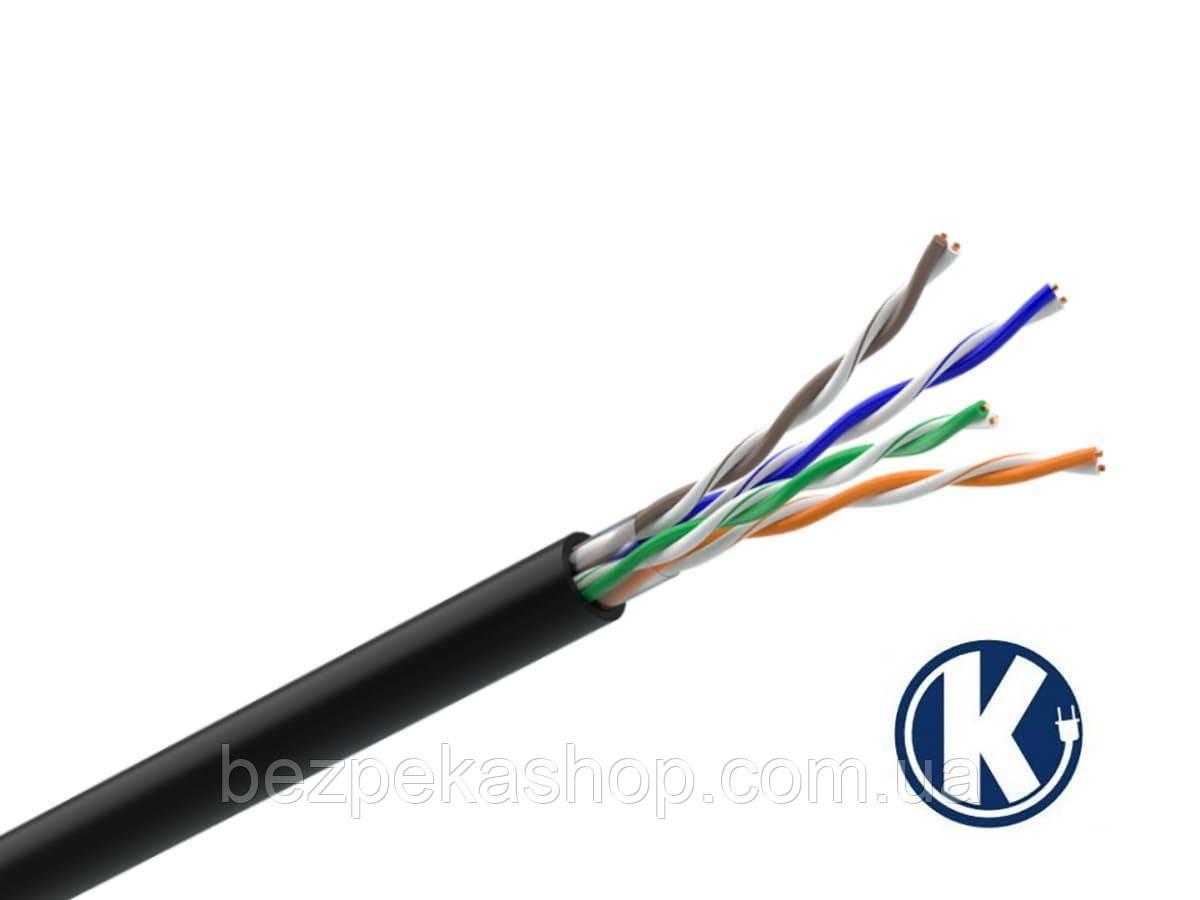Одескабель КПП-ВП (U/UTP Cat.5e 4Pr Outdoor) кабель витая пара без экрана UTP кат.5е, 4х2х0.51 (медь)