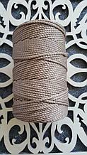 Полиэфирный шнур без сердечника 3мм №8 Мокко