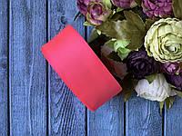 """Репсова стрічка 4 см, 25 ярд/рулон, кольору """"неоновий рожевий"""""""
