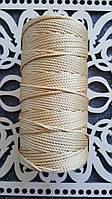 Полиэфирный шнур без сердечника 3мм Золото
