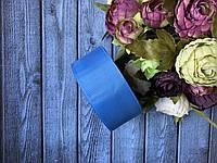 Репсова стрічка 4 см, 25 ярд/рулон, волошкового кольору