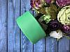 Репсовая лента 4 см, 25 ярд/рулон, светло-зеленого цвета