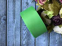 Репсова стрічка 4 см, 25 ярд/рулон, яскраво-зеленого кольору