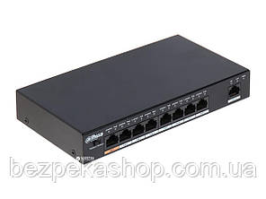 Dahua PFS3009-8ET-96 коммутатор 9-ти портовый, 8 из них с PoE