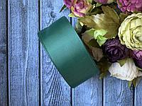 """Репсова стрічка 4 см, 25 ярд/рулон, кольору """"смарагдовий зелений"""