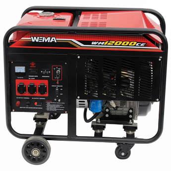 Генератор дизельний WEIMA WM12000CE1 (12 кВт, 1 фаза, електростартер)