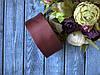 Репсовая лента 4 см, 25 ярд/рулон, коричневого цвета шоколад