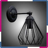Бра в стиле лофт 1 плафон черная