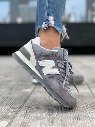 """Кросівки New Balance 574 """"Сірі"""", фото 2"""