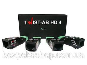 Twist AB-HD-4 4-канальный усилитель для передачи видео по витой паре (комплект)