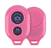 Bluetooth пульт для селфи, блютуз пульт для монопода / смартфона розовый