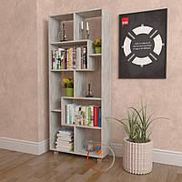 Полка для книг, стеллаж для дома из ДСП. P0025