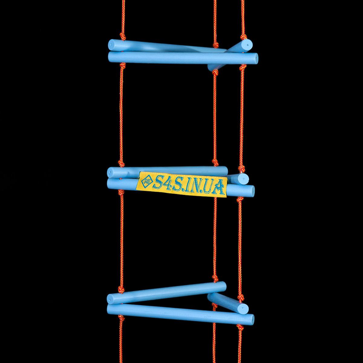 Лестница детская, подвесная, деревянная «ЁЛОЧКА. ЭЛИТ», лазурь