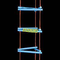 Лестница детская, подвесная, деревянная «ЁЛОЧКА. ЭЛИТ», лазурь, фото 1