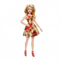 """Кукла Барби в Рождественском платье Barbie Christmas Holiday 2018 Doll, Poinsettias and Gold Dress, 11.5"""""""