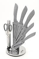 Набор ножей 7 предметов, мраморное покрытие A-PLUS 0996