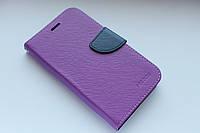 """Универсальный чехол-книжка для телефона Mercury 5.5"""" фиолетовый"""