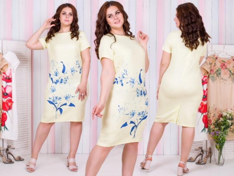 Платье льняное свободного кроя