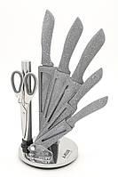 Набор ножей 7 предметов, мраморное покрытие A-PLUS 0996, фото 1