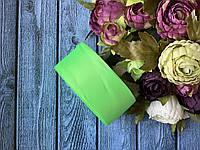 """Репсова стрічка 4 см, 25 ярд/рулон, кольору """"неоновий зелений"""""""