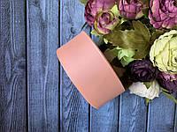 Репсова стрічка 4 см, 25 ярд/рулон, персикового кольору