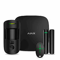 Ajax Ajax HUB StarterKit cam black  комплект системы безопасности с фотоверификацией