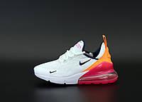 Кроссовки женские Nike Air Max 270 в стиле найк аир макс белые (Реплика ААА+)
