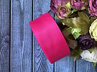 Репсова стрічка 4 см, 25 ярд/рулон, малинового кольору