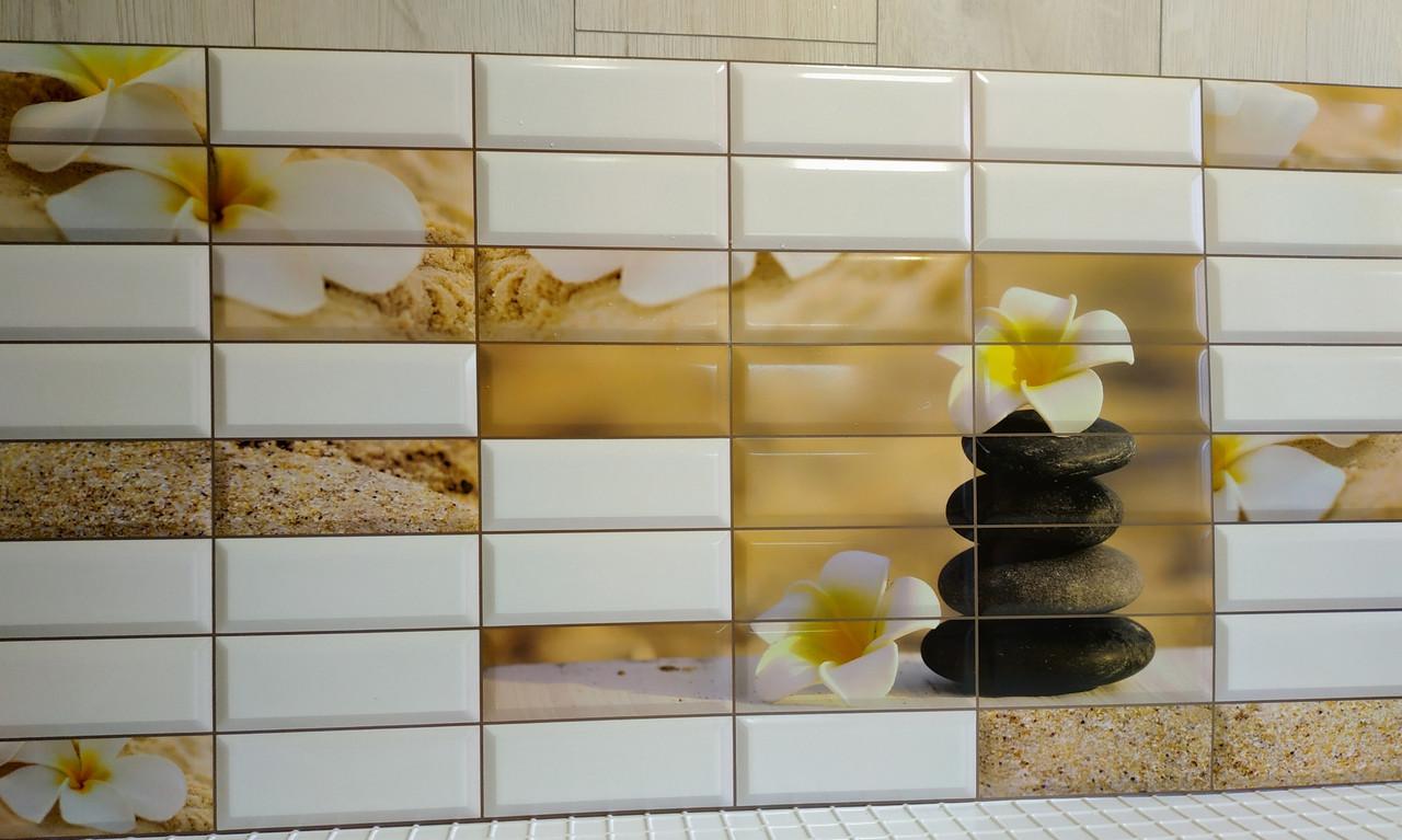 Декоративна пластикова листова панель ПВХ Регул Сад камнів 0,4мм 957*477 мм