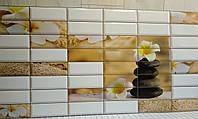 Декоративна пластикова листова панель ПВХ Регул Сад камнів 0,4мм 957*477 мм, фото 1