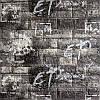 Декоративная 3Д панель 5 шт. стеновая под Черный Кирпич Граффити (самоклеющиеся 3d панели для стен ) 700x770x5 мм