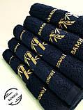Полотенце махровое 50х90 Бамбук. Темно синее., фото 2