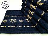 Полотенце махровое 50х90 Бамбук. Темно синее., фото 3