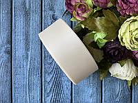 Репсова стрічка 4 см, 25 ярд/рулон, молочного кольору