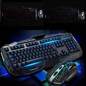 Професійна ігрова клавіатура з підсвічуванням V100 +Мишка
