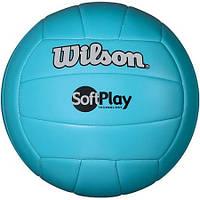 Мяч волейбольный Wilson Soft Play Blue 5629, КОД: 1552419